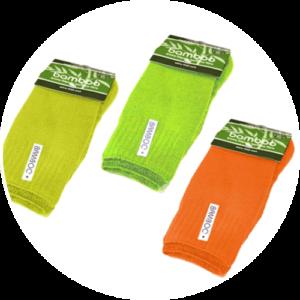 Hi vis socks made from bamboo fibre