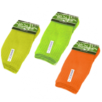 Hi vis socks made from bamboo fibre